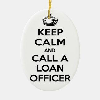Guarde la calma y llame a un oficial de préstamo ornamentos para reyes magos