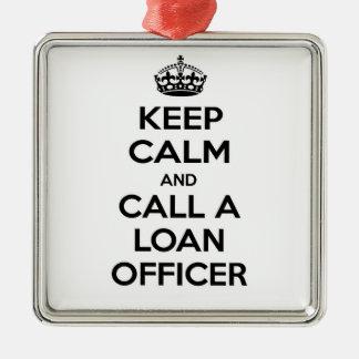 Guarde la calma y llame a un oficial de préstamo ornamente de reyes