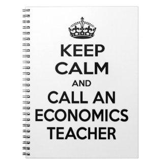 Guarde la calma y llame a un profesor de la econom cuadernos