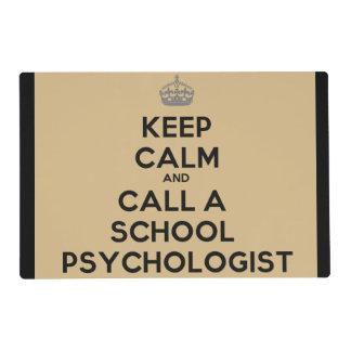 Guarde la calma y llame a un psicólogo Placemat de Tapete Individual