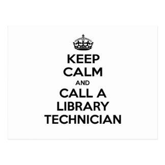 Guarde la calma y llame a un técnico de la bibliot postal