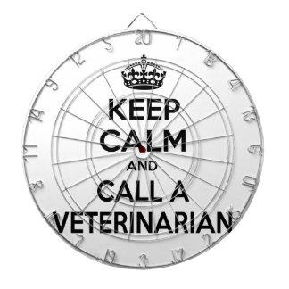 Guarde la calma y llame a un veterinario tabla dardos