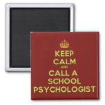 Guarde la calma y llame el imán del psicólogo de l