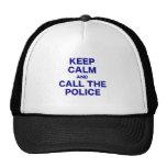 Guarde la calma y llame la policía gorro de camionero