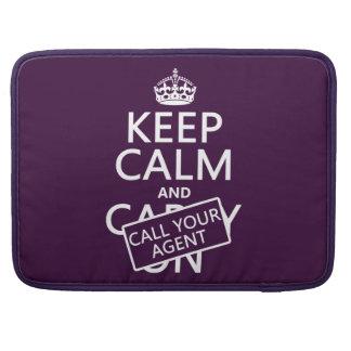 Guarde la calma y llame su agente (cualquier color funda para macbooks
