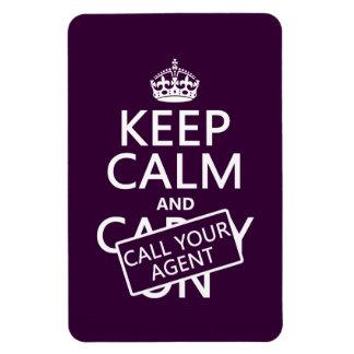 Guarde la calma y llame su agente (cualquier color iman flexible
