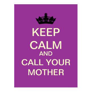 GUARDE la CALMA y llame su postal de la madre (la