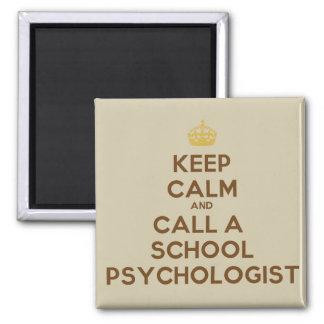 Guarde la calma y llame un imán del psicólogo de l