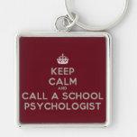 Guarde la calma y llame un llavero del psicólogo d