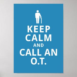Guarde la calma y llame un O.T. - Terapeuta profes Póster