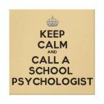 Guarde la calma y llame una lona del psicólogo de  lona estirada galerias