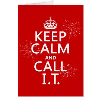 Guarde la calma y llámela (cualquier color) tarjeta de felicitación