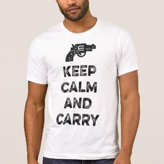 Guarde la calma y lleve camisas