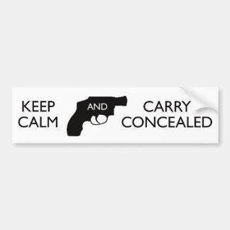 Guarde la calma y lleve el blanco/el negro encubie etiqueta de parachoque