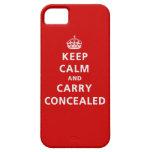Guarde la calma y lleve encubierto iPhone 5 cárcasas