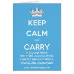 Guarde la calma y lleve… (la lista de fuentes de tarjeta de felicitación