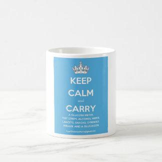 Guarde la calma y lleve… (la lista de fuentes de taza básica blanca