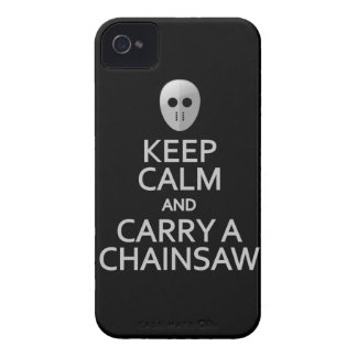 Guarde la calma y lleve una caja de la curva de iPhone 4 Case-Mate cárcasa