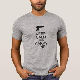 Guarde la calma y lleve uno - 2da enmienda playera