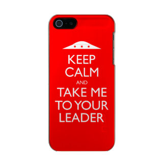 Guarde la calma y lléveme a su caso del iPhone 5 Carcasa De Iphone 5 Incipio Feather Shine
