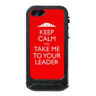 Guarde la calma y lléveme a su caso del iPhone 5 Funda Para iPhone 5 Incipio ATLAS ID