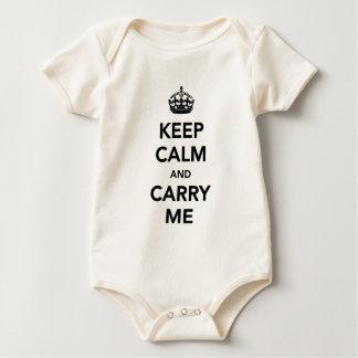 Guarde la calma y lléveme camisa del bebé