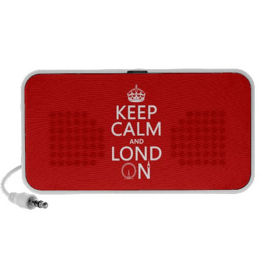 Guarde la calma y Londres (Lond encendido) (cualqu Mini Altavoz