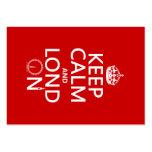Guarde la calma y Londres (Lond encendido) (cualqu Tarjeta Personal