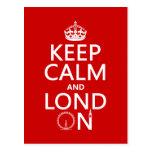 Guarde la calma y Londres (Lond encendido) (cualqu Postal