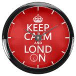 Guarde la calma y Londres Relojes Aquavista