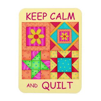 Guarde la calma y los bloques coloridos del imán de vinilo