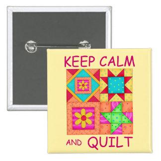 Guarde la calma y los bloques coloridos del