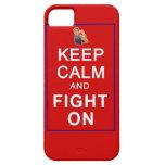Guarde la calma y luche en las derechas para mujer iPhone 5 cárcasa