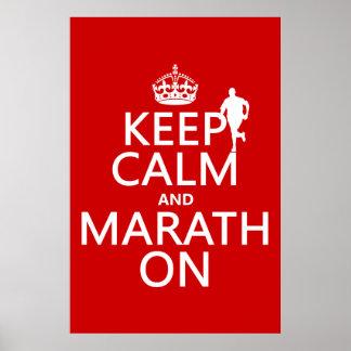 Guarde la calma y Marath encendido