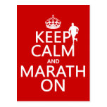 Guarde la calma y Marath encendido Tarjeta Postal