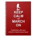 ¡Guarde la calma y marzo en el cuaderno - para per