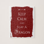 Guarde la calma y mate un dragón rompecabezas con fotos