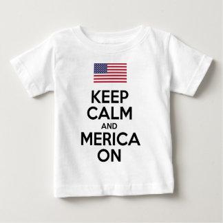 Guarde la calma y Merica encendido Tshirt