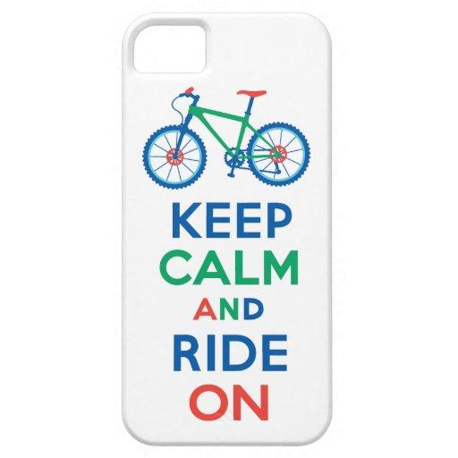 Guarde la calma y monte en el iPhone multi 5 iPhone 5 Case-Mate Funda