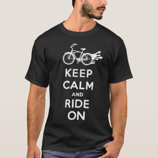 Guarde la calma y monte encendido - camiseta - el