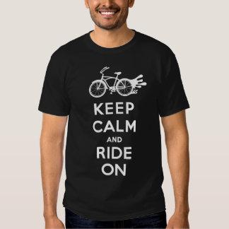 Guarde la calma y monte encendido - camiseta - el camisas