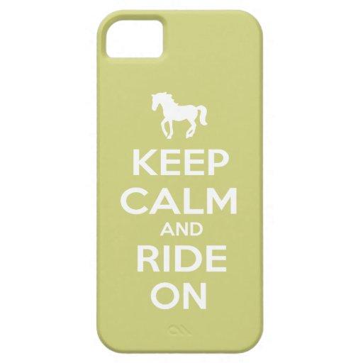 Guarde la calma y monte encendido iPhone 5 cobertura