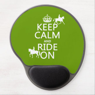 Guarde la calma y monte encendido - los caballos, alfombrillas de ratón con gel
