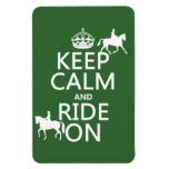 Guarde la calma y monte encendido - los caballos,  iman
