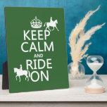 Guarde la calma y monte encendido - los caballos,  placas de madera