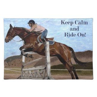 ¡Guarde la calma y monte encendido! Puente Manteles Individuales