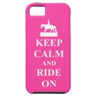 Guarde la calma y monte encendido, rosado funda para iPhone SE/5/5s
