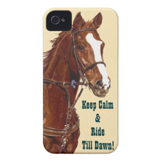 Guarde la calma y monte hasta que caso del iPhone iPhone 4 Case-Mate Cobertura