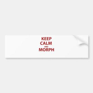 Guarde la calma y Morph Etiqueta De Parachoque