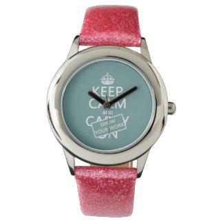 Guarde la calma y muestre su trabajo (cualquier reloj